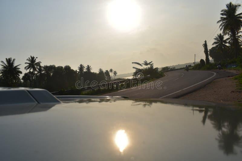 Sun. Liking, car, verynice, car royalty free stock photography