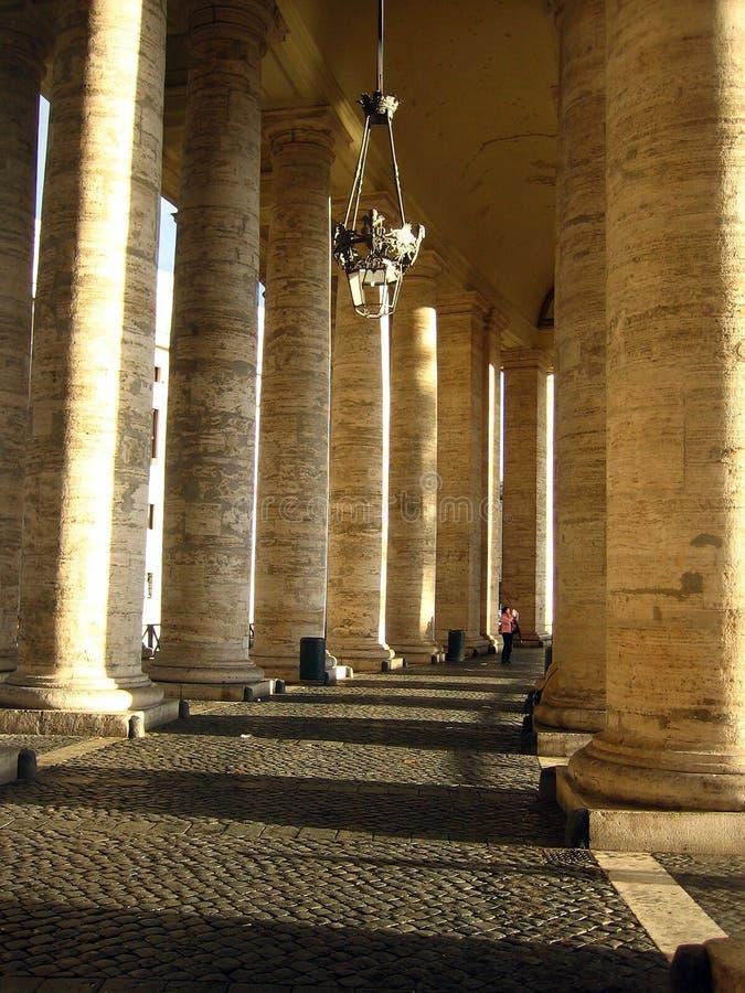 Sun-lit columns royalty free stock photography