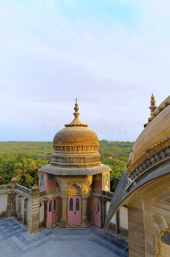 Sun-lit dome, Vijay Vilas Palace, Bhuj, Gujarat. India stock photo