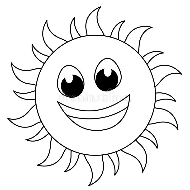 Download Sun logo stock vector. Image of drawing, black, illustration - 14595574