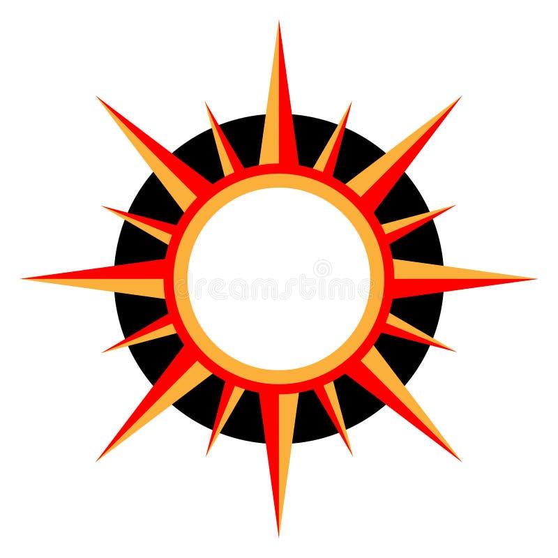Sun logo stock illustration