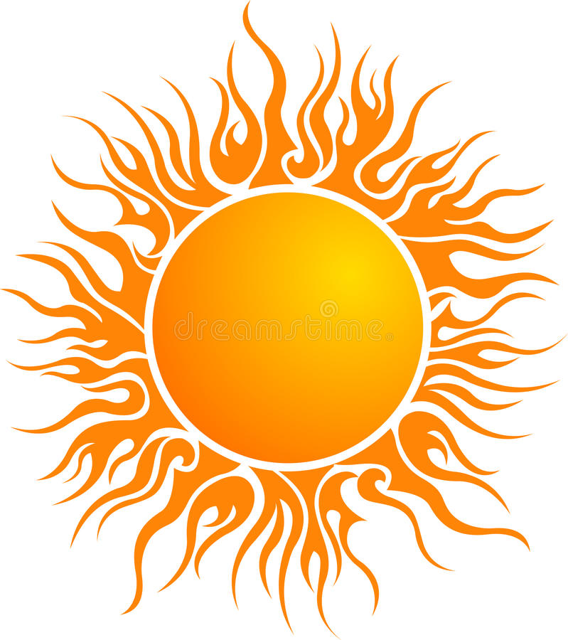 Sun logo. Illustration art of a sun logo with isolated background