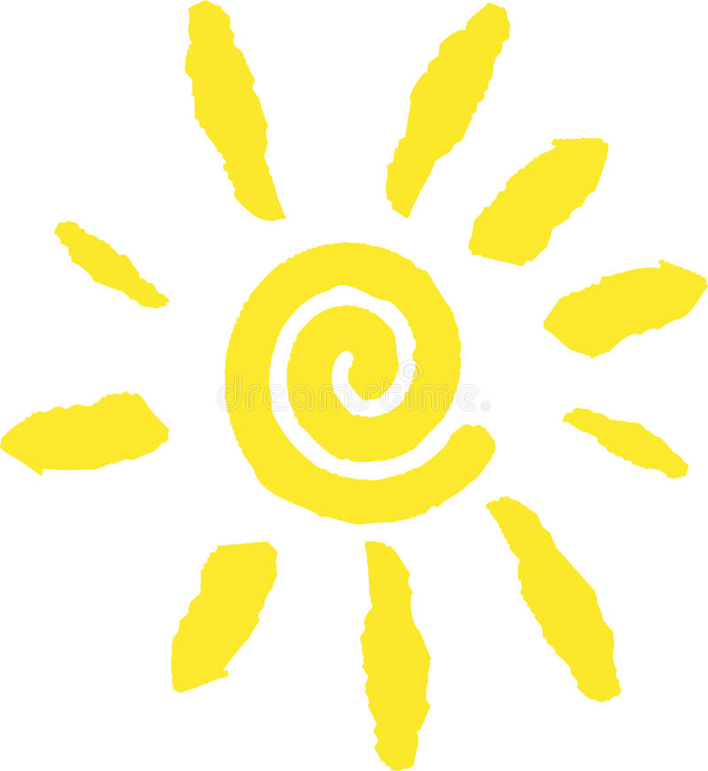 Sun logo vektor illustrationer