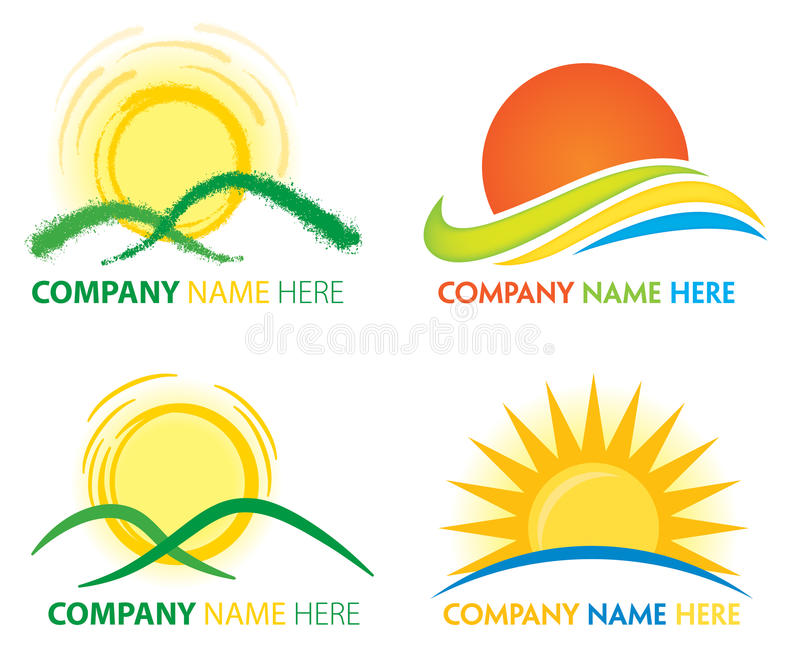 Sun Logo stock illustration