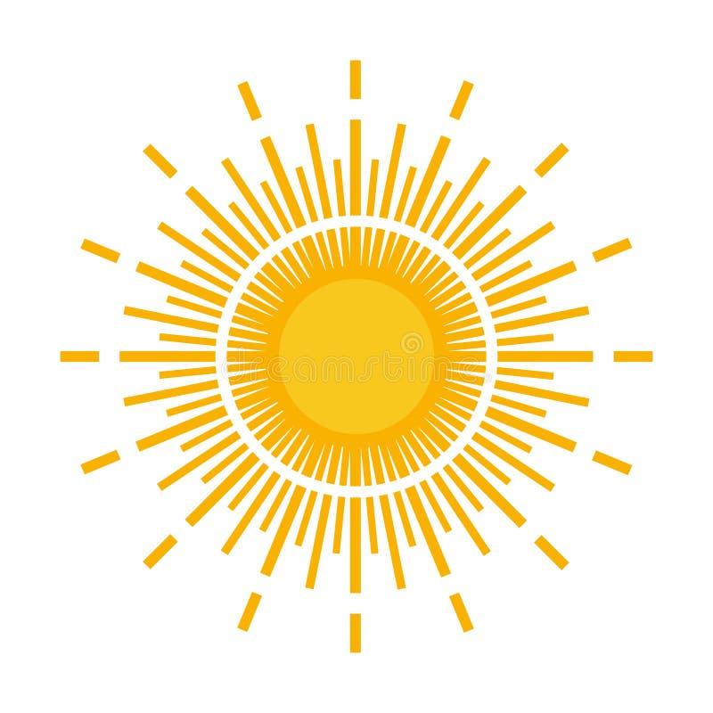 Sun-Logo stock abbildung
