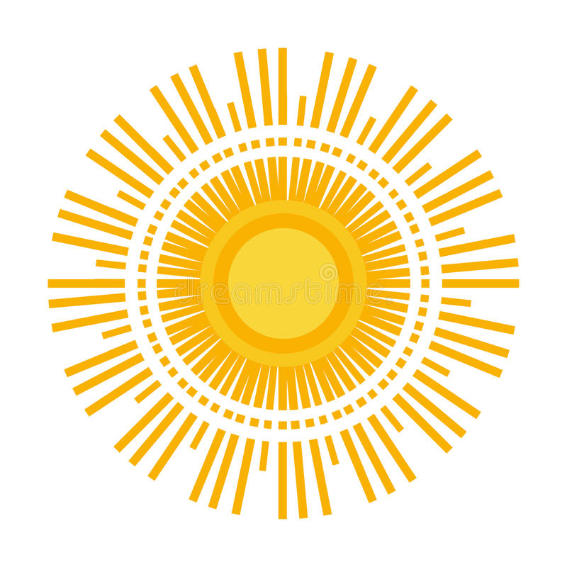 Download Sun logo stock illustration. Image of painted, heating - 83707444