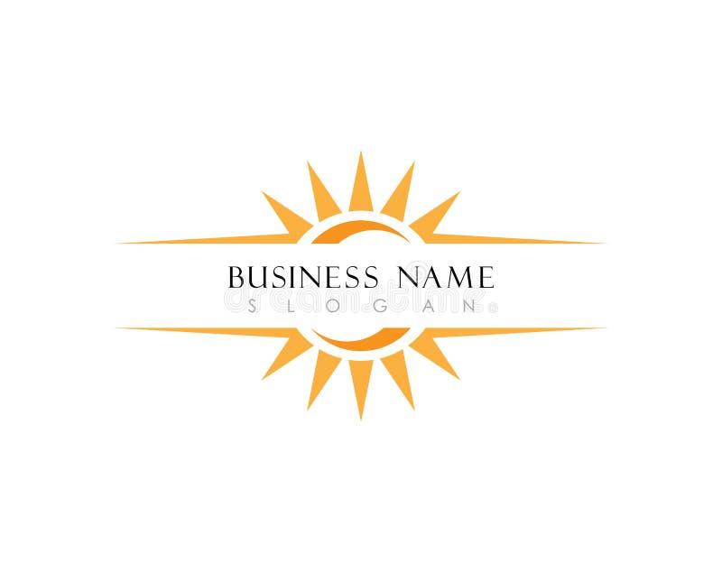 Sun Logo Icon Vector Template royaltyfri illustrationer