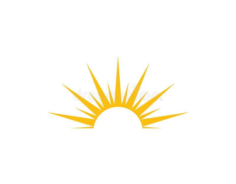 Sun logo light icon. Vector stock illustration