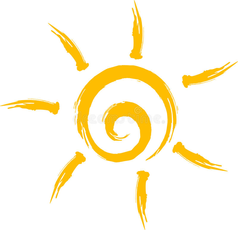 Sun Logo. Logos / Logo Collection, Logo Design Elements , Logos, Nature And Landscaping royalty free illustration