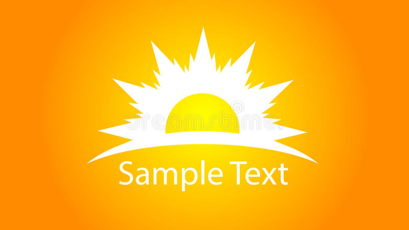 Sun logo with text royalty free illustration