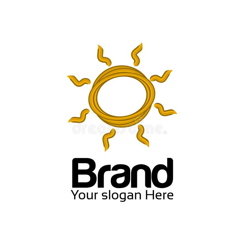 Sun logo vector. Flat logo design. Sun icon vector illustration