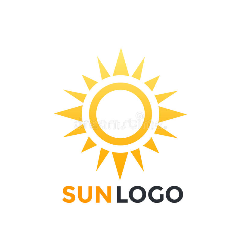 Download Sun-Logoelement, Vektorikone Vektor Abbildung - Illustration von schattenbild, tageslicht: 96932756