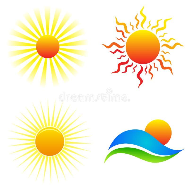Sun logos stock illustration