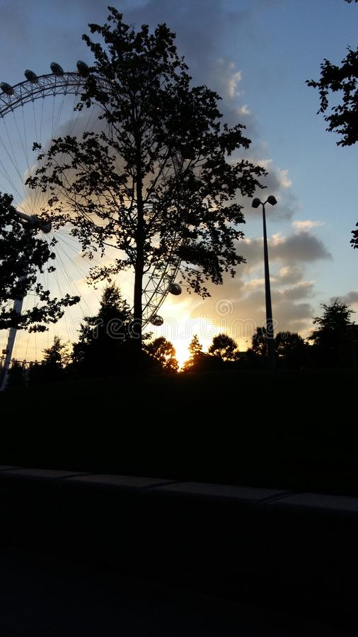 Sun a Londra immagine stock