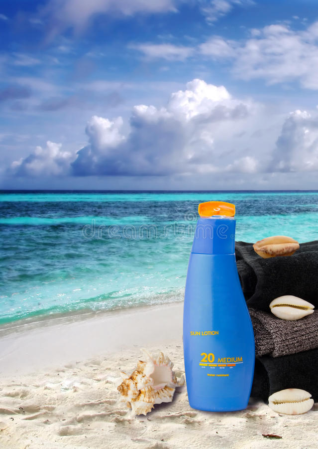 Download Sun lotion stock photo. Image of starfish, cleanse, protection - 16072630