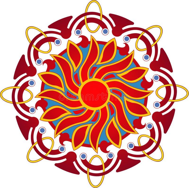 Sun mandala royalty free stock photography