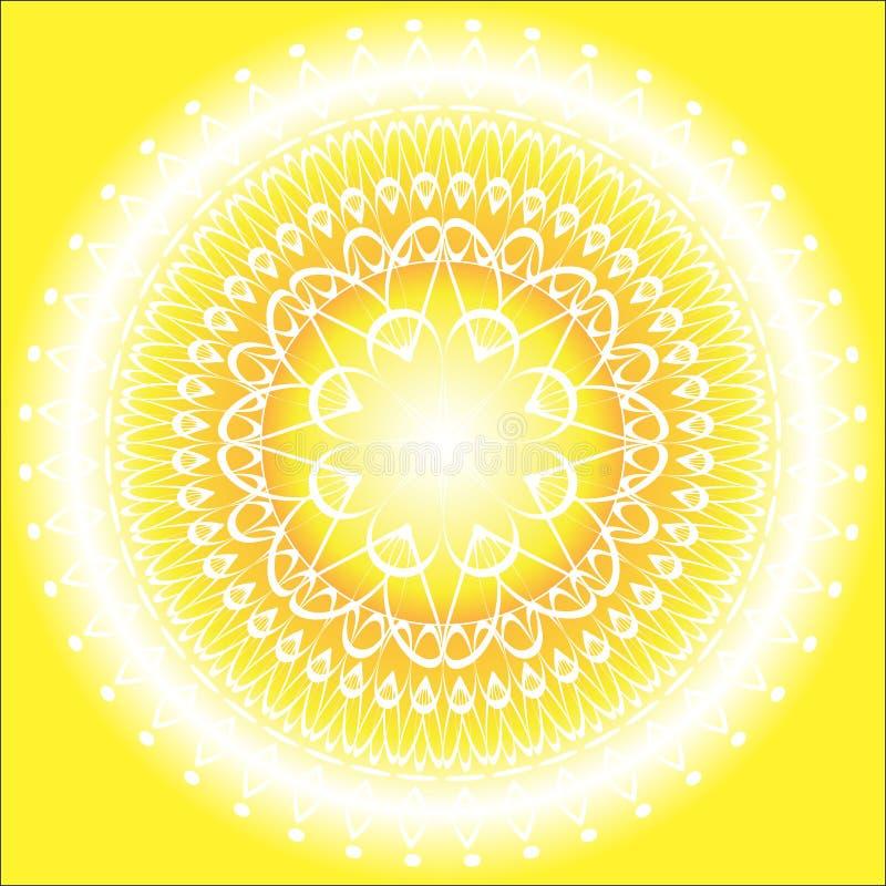 Download Sun Mandala stock vector. Image of buddhism, decoration - 26980897