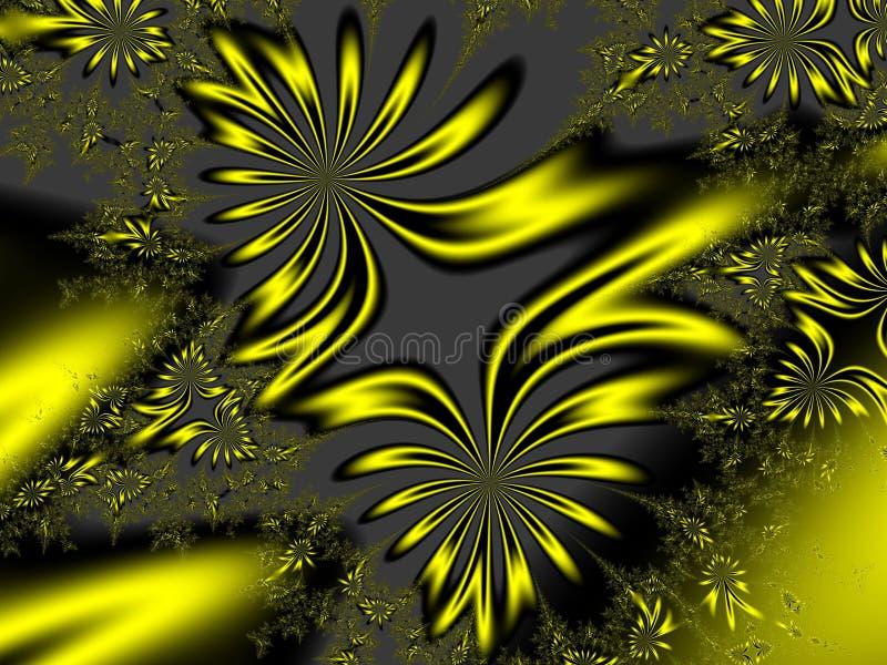 Sun mangeant des fleurs fleuries illustration de vecteur