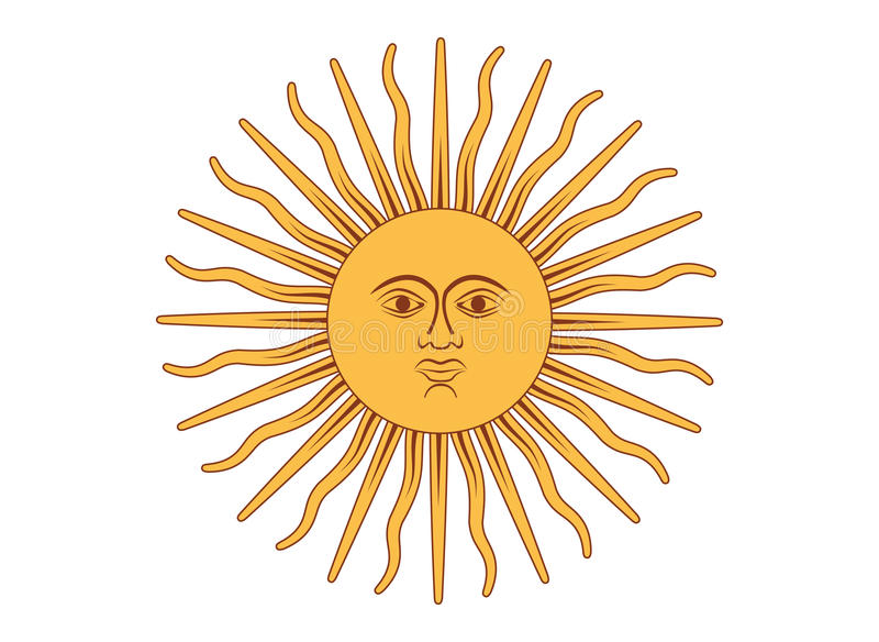 Sun Of May Royalty Free Stock Photography