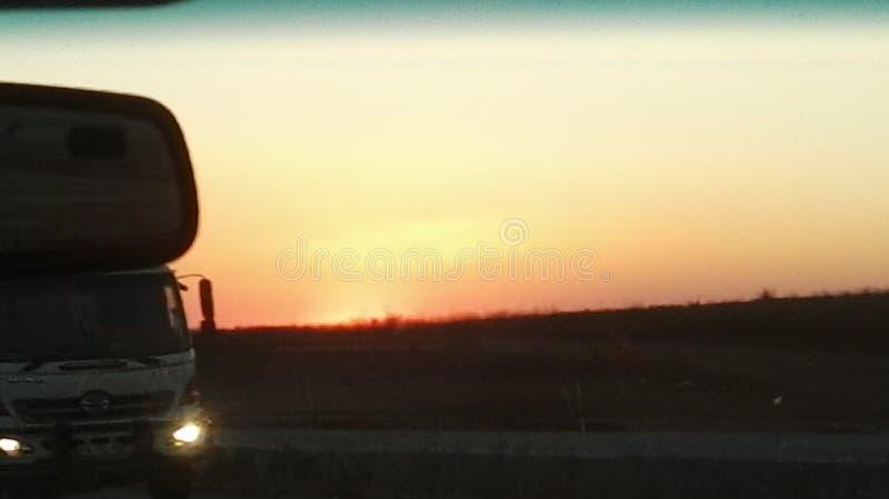 Sun messo nel Sudafrica fotografia stock