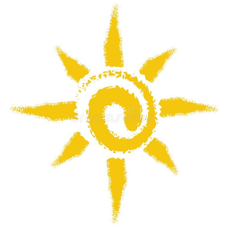 Sun mit weißem Hintergrund lizenzfreie abbildung