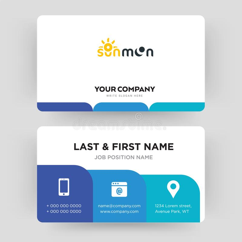 Sun moon business card design template visiting for your company download sun moon business card design template visiting for your company stock illustration illustration colourmoves