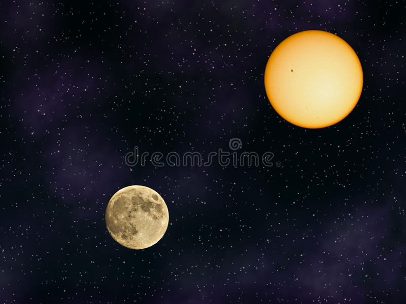 Download Sun And Moon Royalty Free Stock Images - Image: 37427569