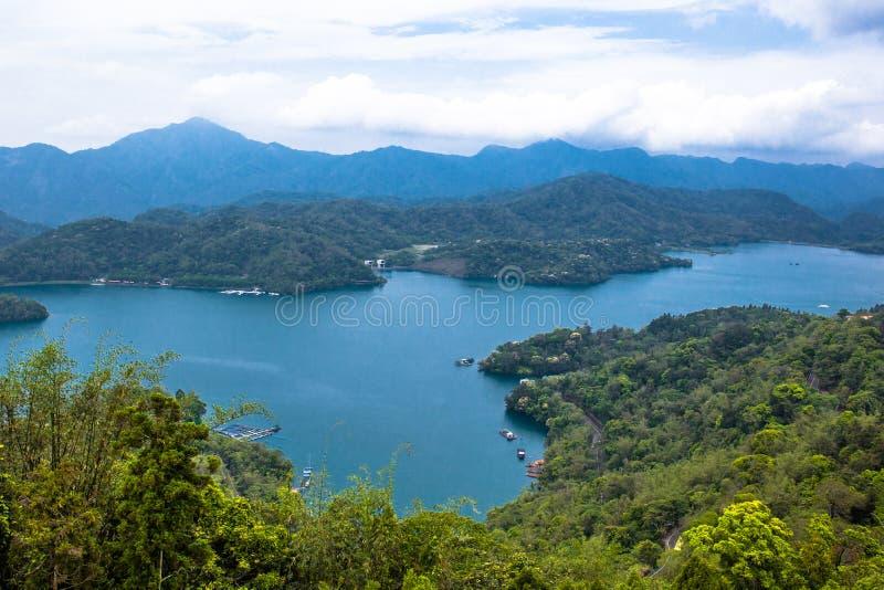 Sun moon lake. A magnificent scenery of Sun Moon Lake from the Ci-en Pagoda, Nantou, Taiwan stock photography