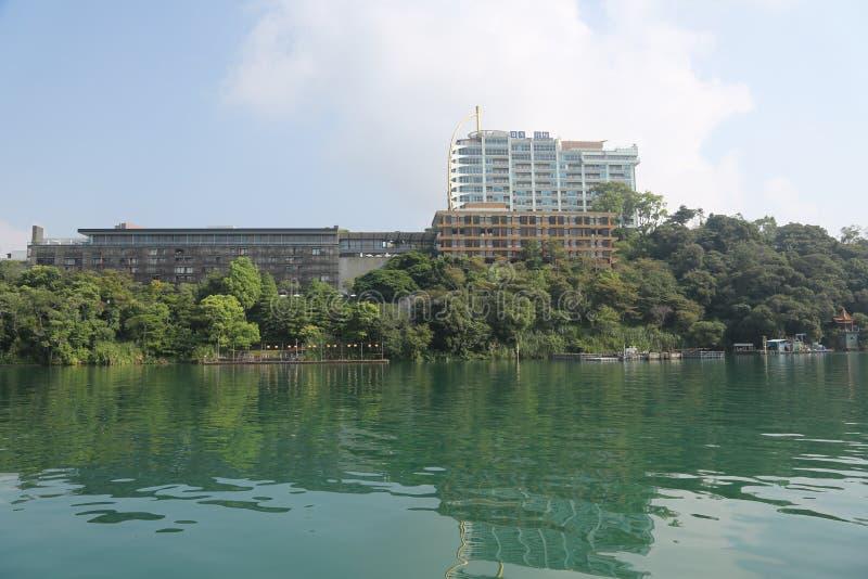 Sun Moon Lake. In Nantou County of Taiwan Province,  Lake 748 meters above sea level, normal area of 7.93 ㎞ ², it take brilliance island as territories stock photo