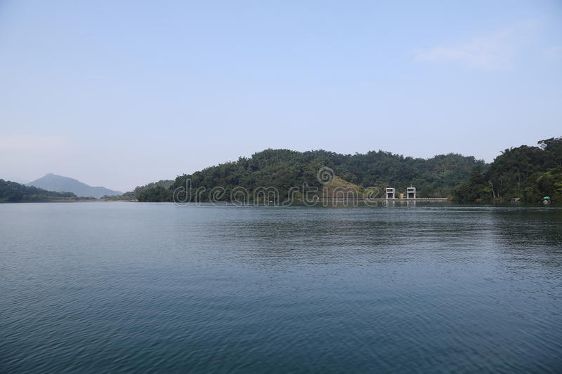 Sun Moon Lake. In Nantou County of Taiwan Province,  Lake 748 meters above sea level, normal area of 7.93 ㎞ ², it take brilliance island as territories stock photography