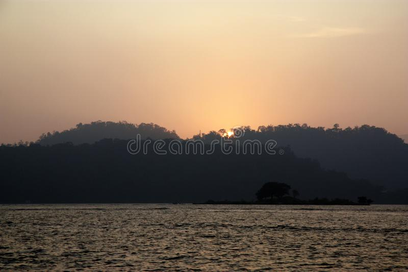Sun Moon Lake Sunset. Sun Moon Lake, Taiwan sunset stock photography