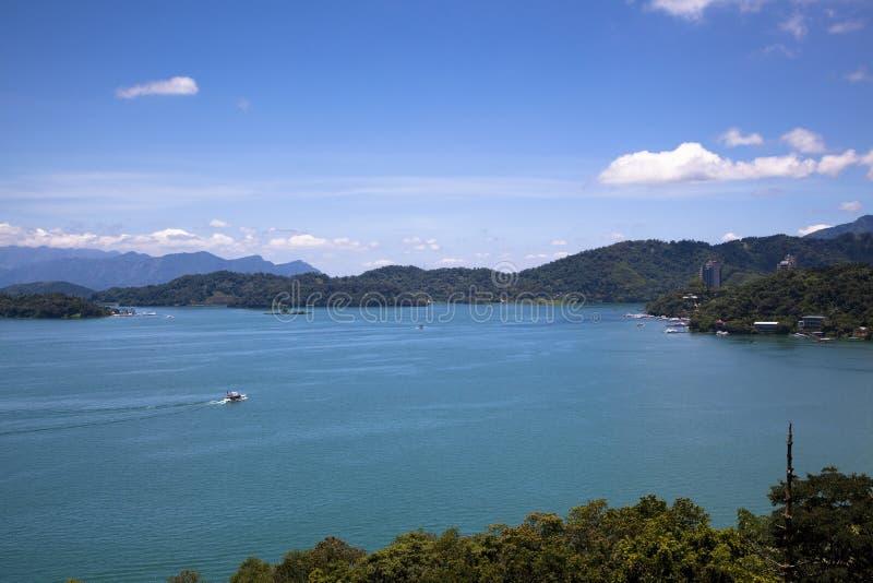 Sun Moon Lake in Taiwan. A view of the Sun Moon Lake in Taiwan stock images