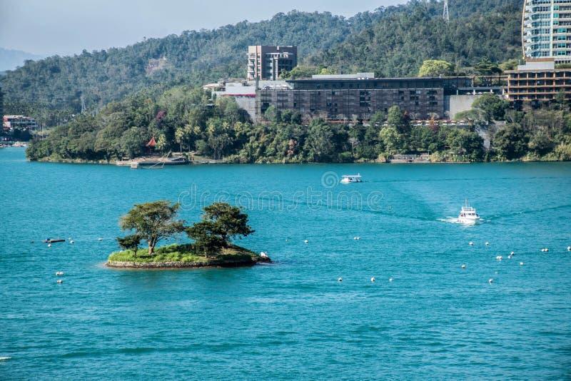 Sun Moon Lake in Taiwan royalty free stock photo