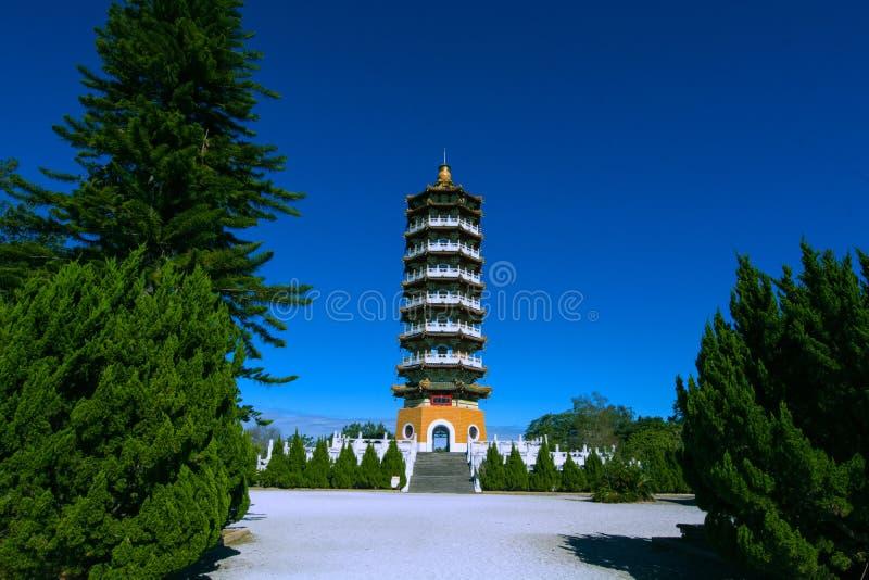 Sun Moon Lake of Taiwan. Sun Moon Lake Ci En Tower,Teh bulding is in memory of his mother by Chiang Kai-shek royalty free stock images
