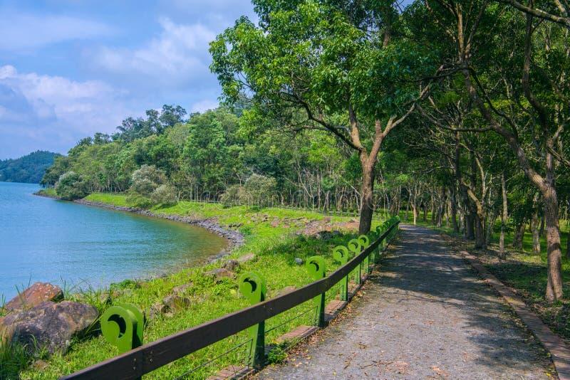 Sun Moon Lake of Taiwan. There are ten  beautiiful  Trails at Sun Moon Lake royalty free stock photos