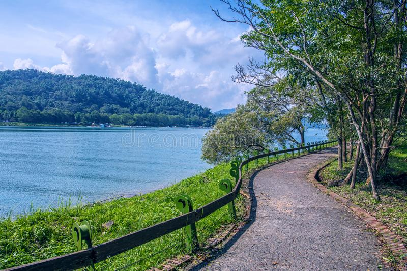 Sun Moon Lake of Taiwan. There are ten  beautiiful  Trails at Sun Moon Lake royalty free stock images