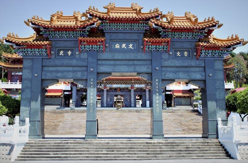 Sun Moon Lake Wen Wu Temple, Taiwan stock photos