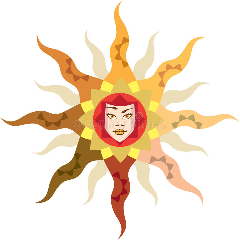 Sun Mother Nature abstract vector illustration