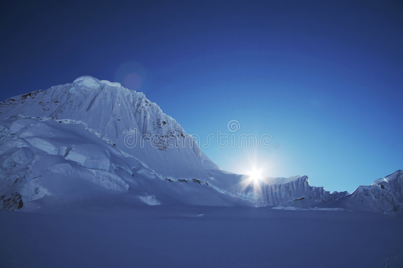 Sun in the mountain royalty free stock images