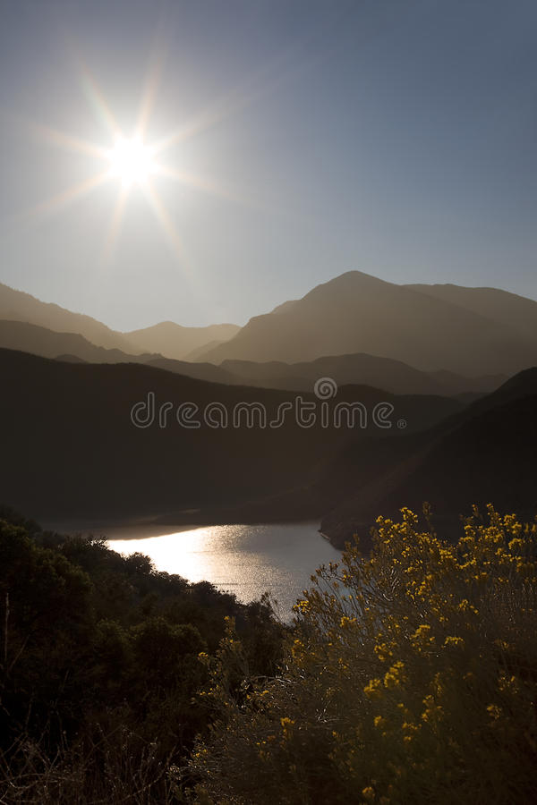 Sun and Mountains royalty free stock photo
