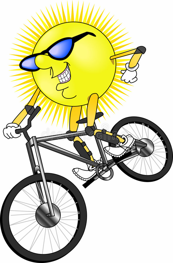 Sun_mtn_bike vector illustratie
