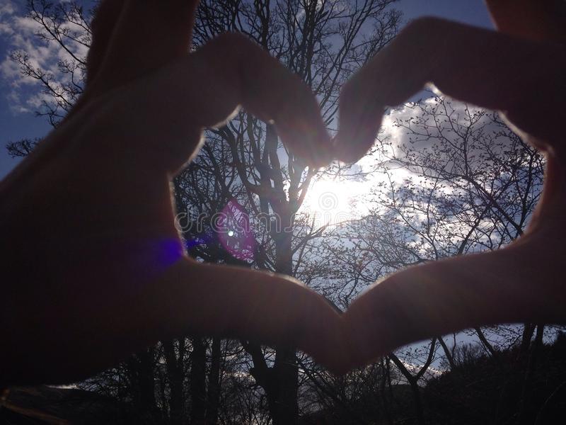 Sun in my Heart royalty free stock photo