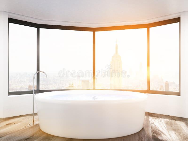 Sun nel bagno di New York illustrazione vettoriale