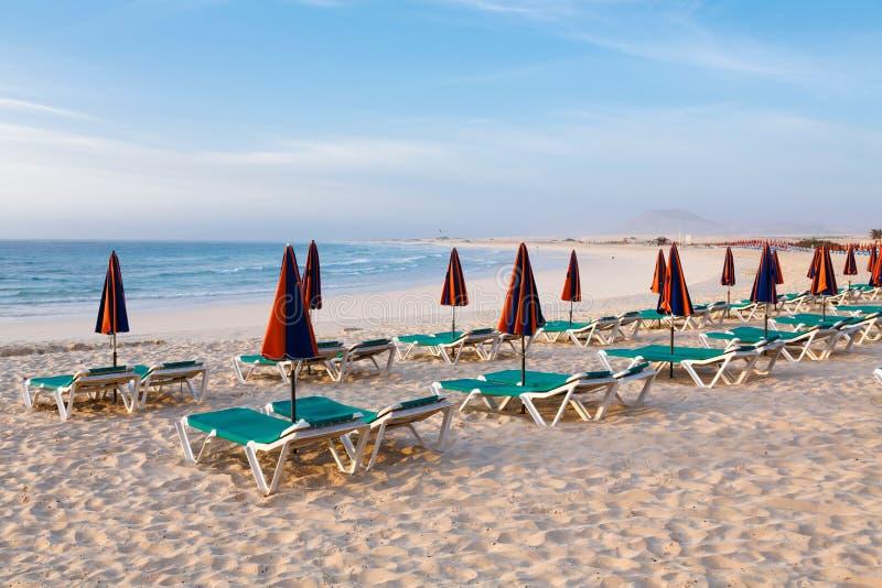 Sun-Nichtstuer auf Strand stockfoto