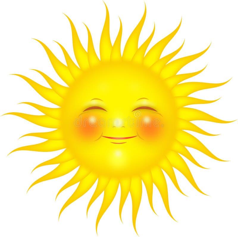 Sun no branco ilustração royalty free