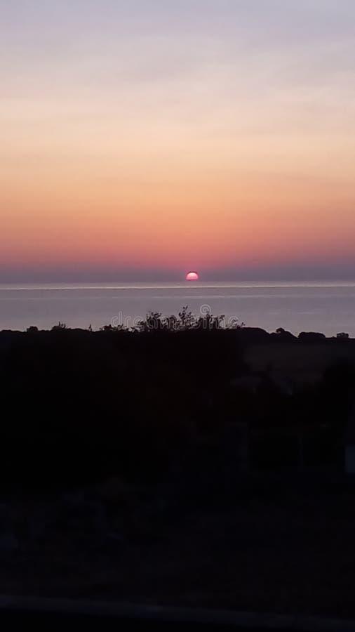 Sun no céu imagem de stock royalty free