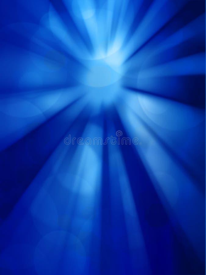 Sun no céu azul com alargamento das lentes ilustração stock