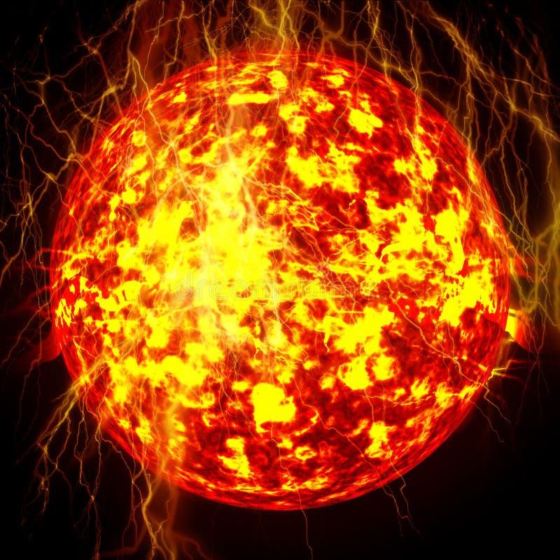 Sun no espaço ilustração do vetor