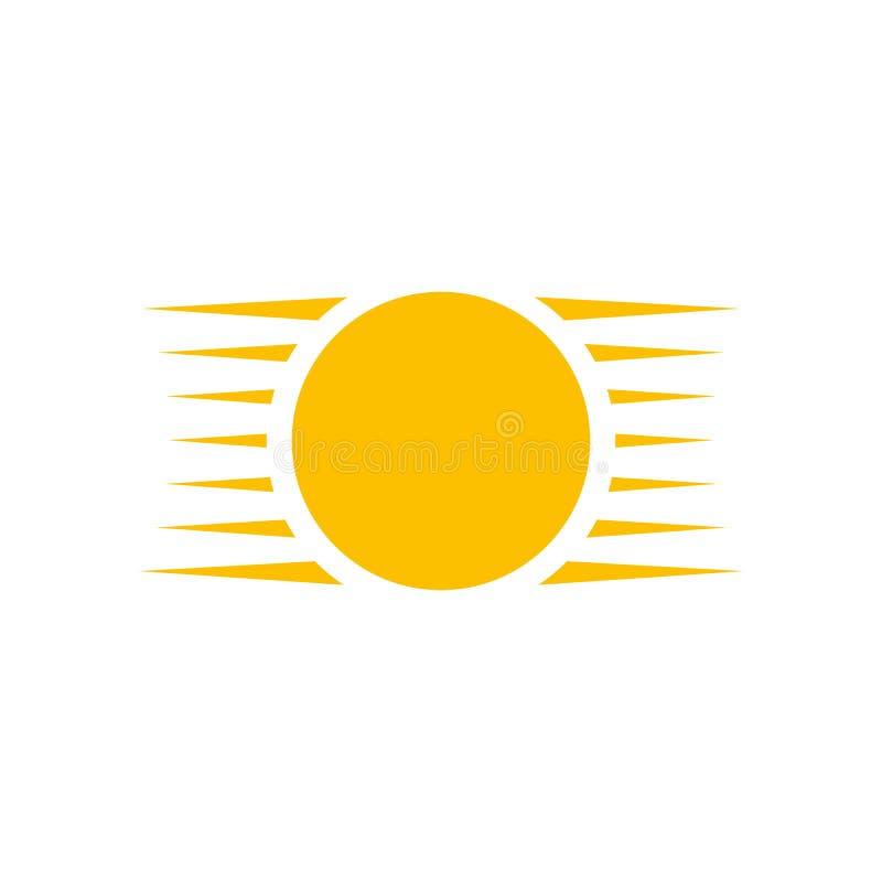 Sun o estate creativo Logo Design Template Illustrazione di vettore isolata su priorit? bassa bianca royalty illustrazione gratis