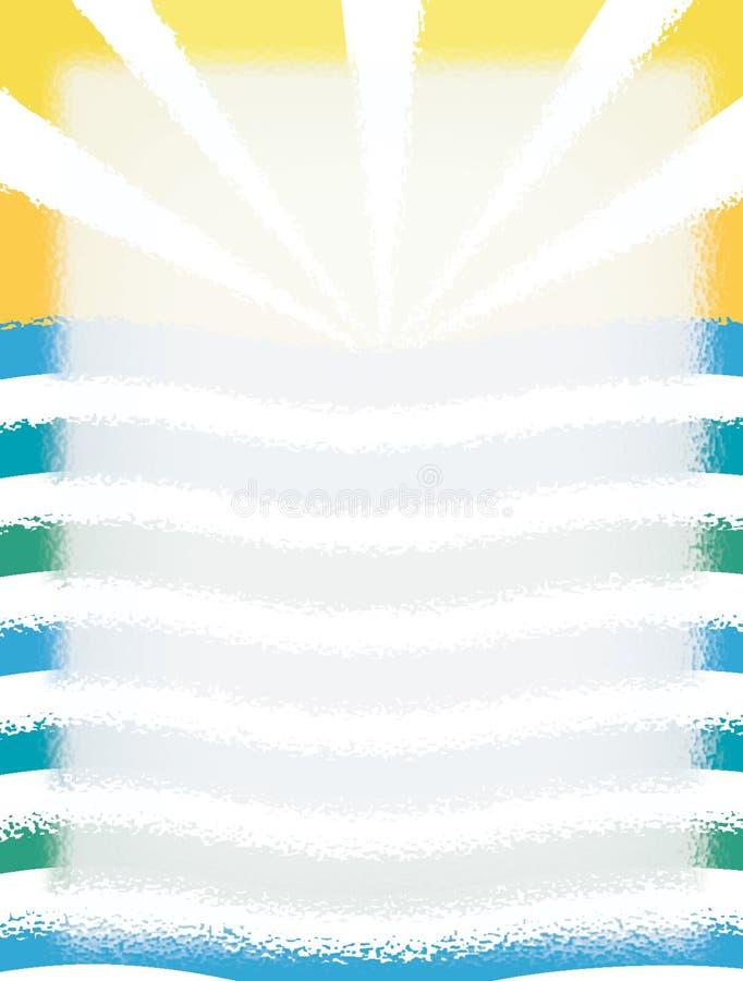 Sun/océano stock de ilustración